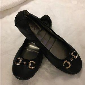 Me Too Women's Legend BLACK Patent Leather Ballet Flats-Size 6.5-NIB